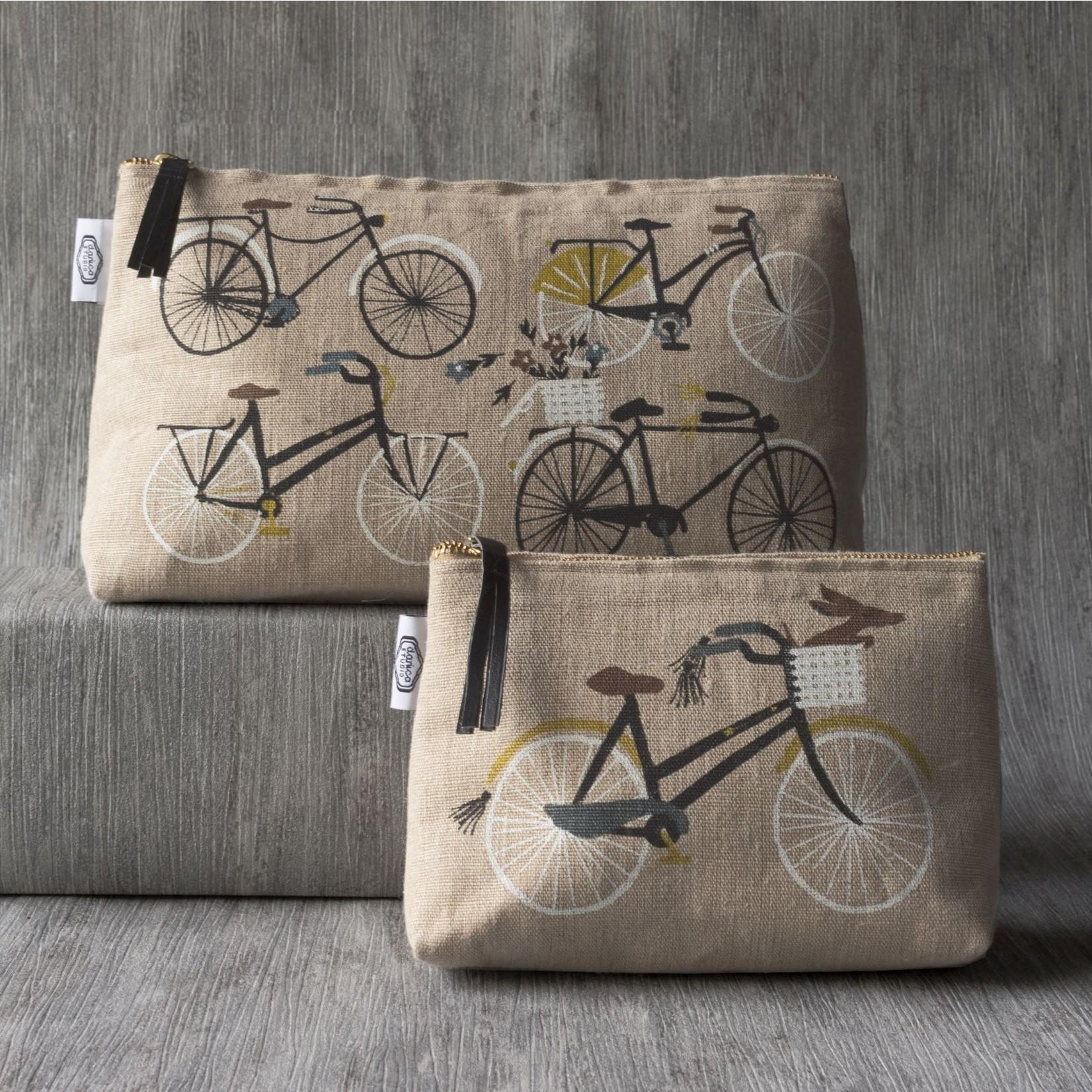 Danica Studio Large Linen Cosmetic Bag