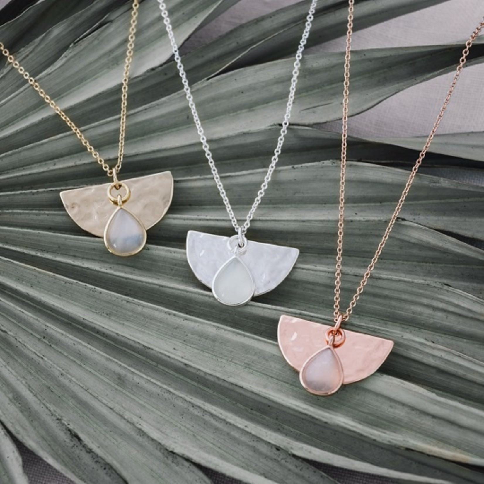 Glee Jewelry ~  Moonstone Blossom Necklace