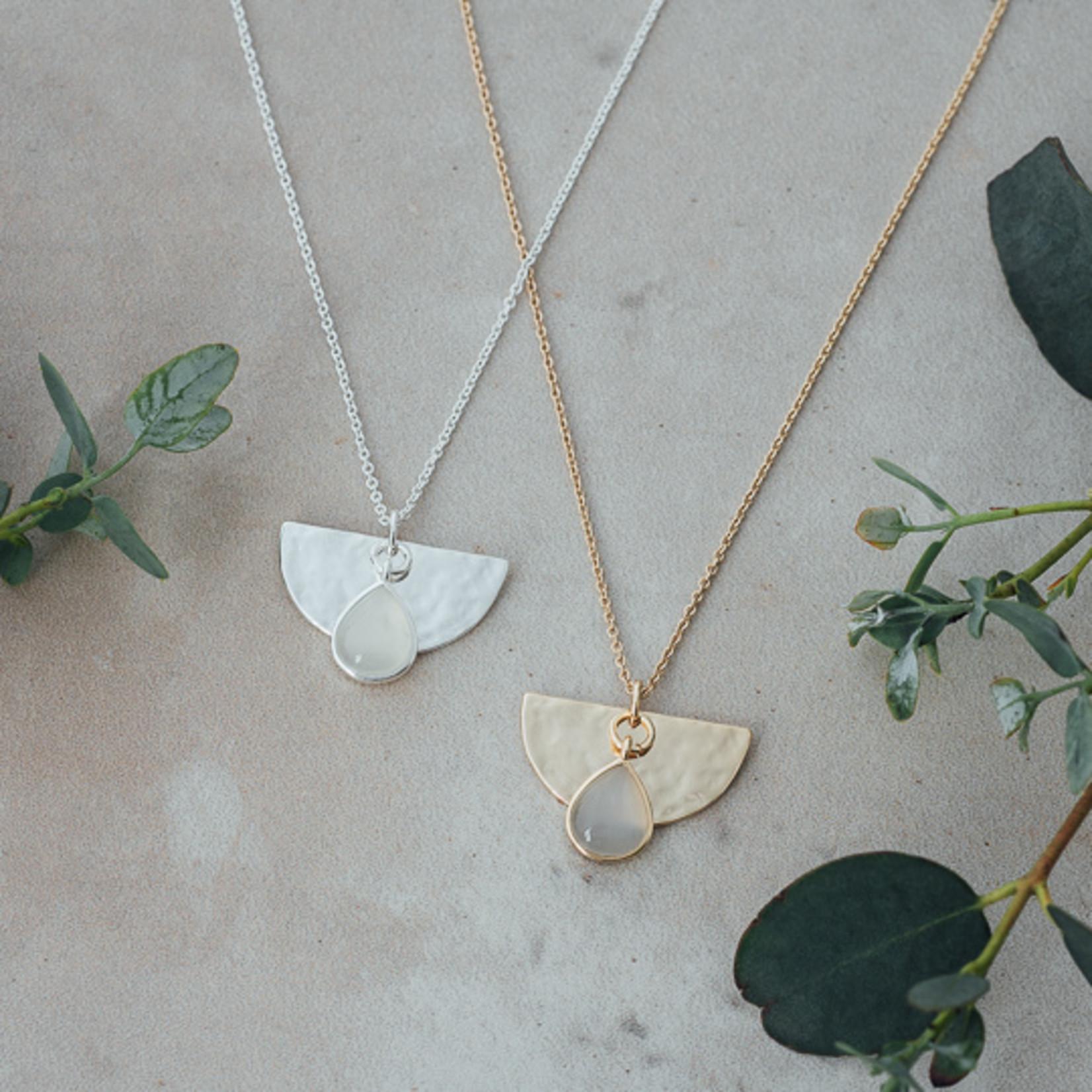 Glee Jewelry ~  Moonstone Blossom Necklace