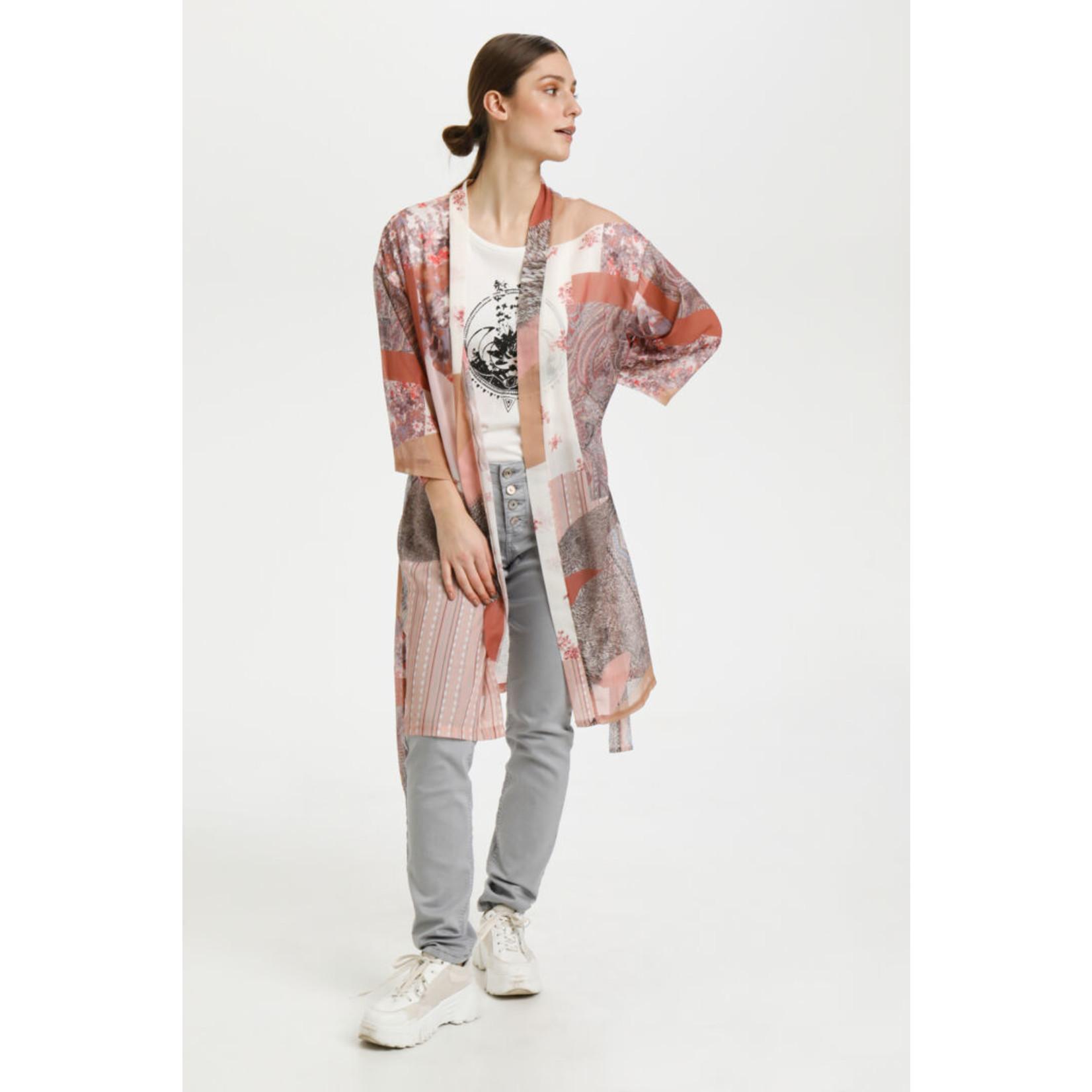 Cream Danica Patchwork Kimono