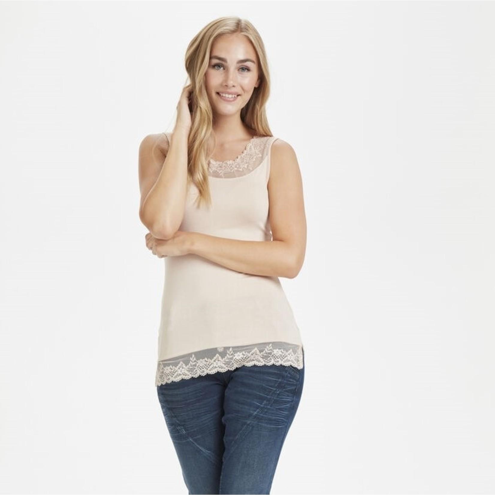 Cream Jersey Top