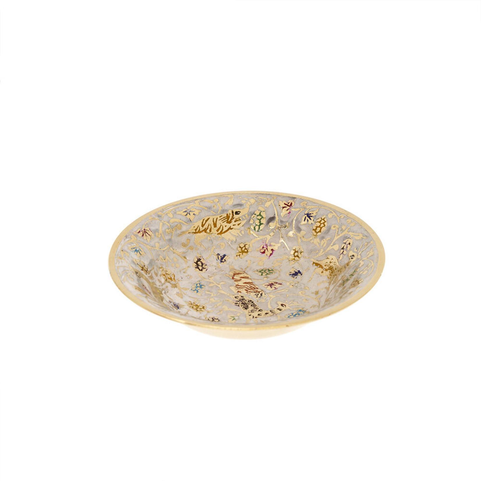 Indaba Winter Frolic Brass Decor Bowl