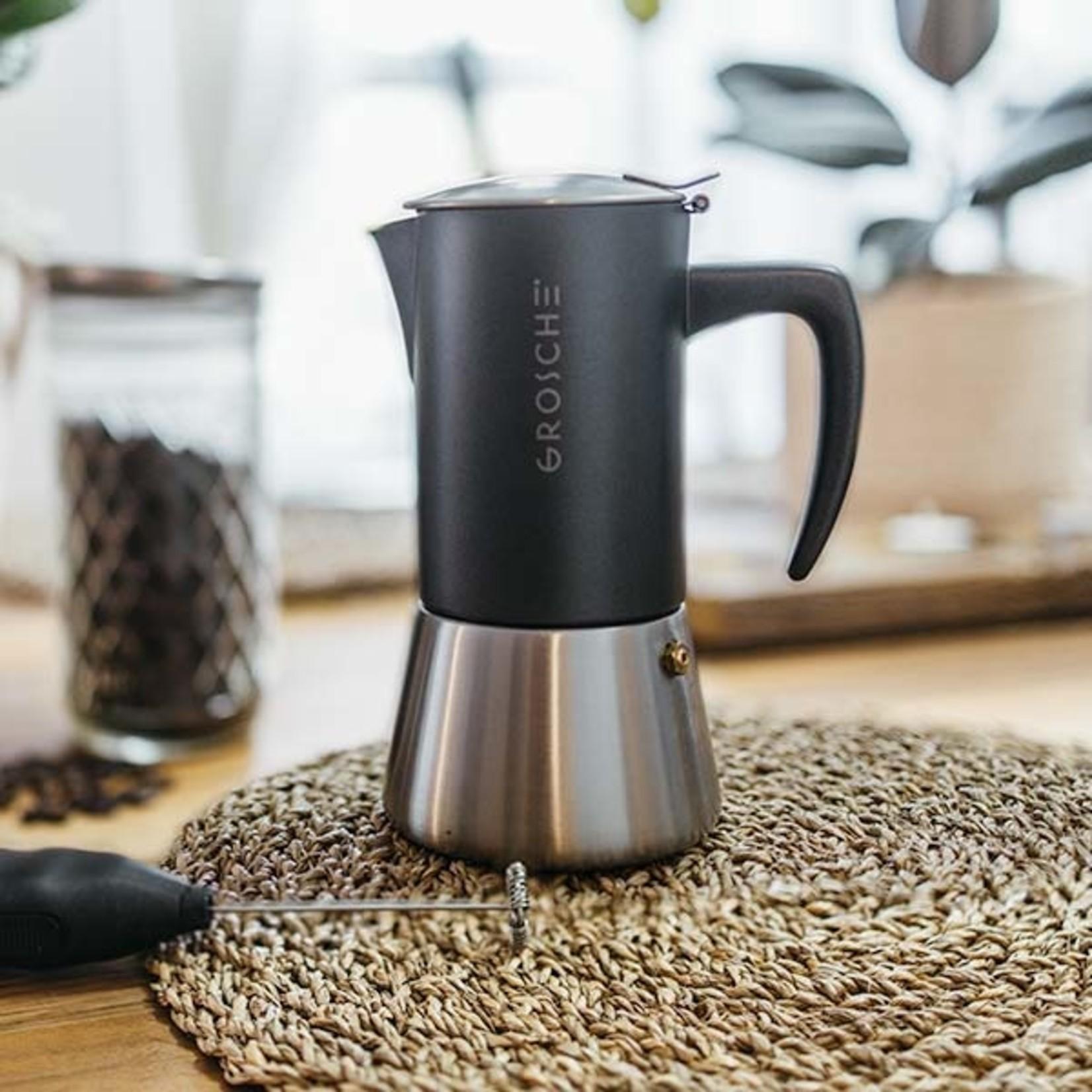 Grosche Milano Stainless Steel Stovetop Espresso Maker