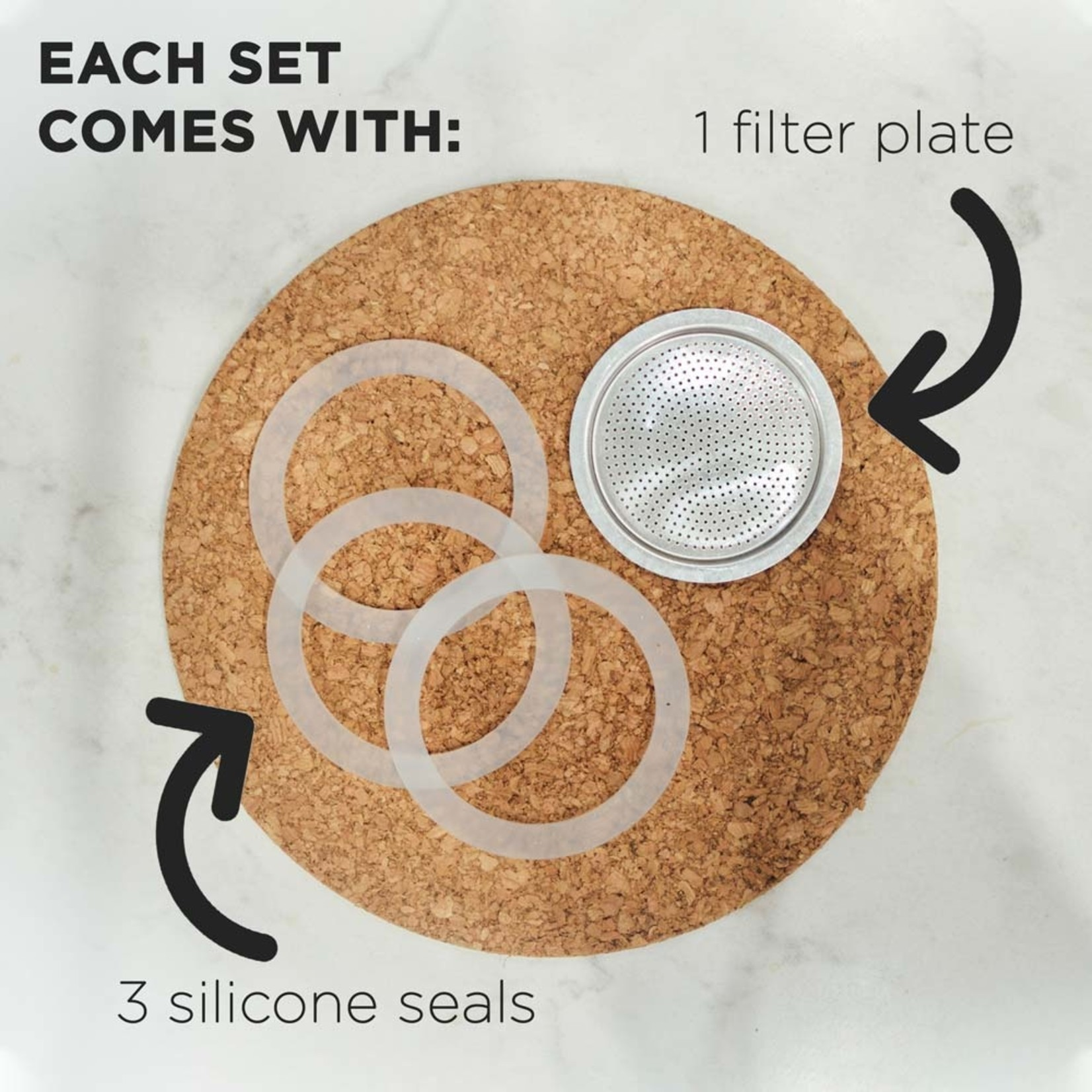Grosche Silicone Gasket & Filter Replacement Set