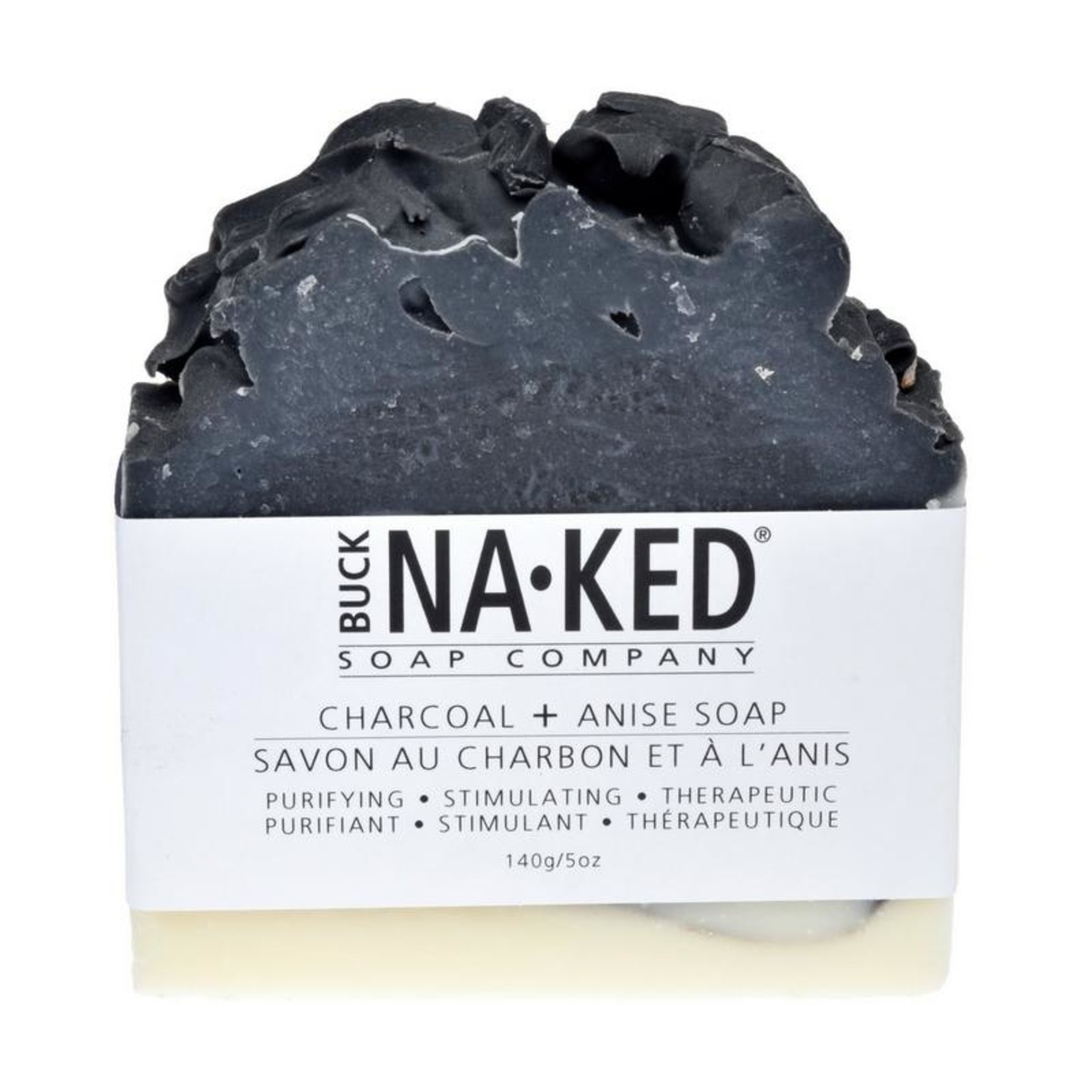Buck Naked Soap Company Charcoal and Anise Soap Bar