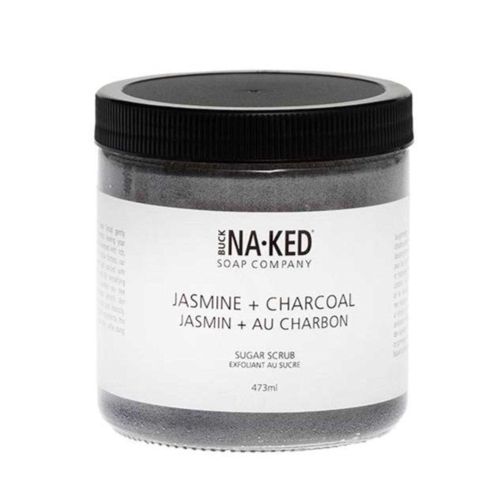 Buck Naked Soap Company Jasmine and Charcoal Sugar Scrub