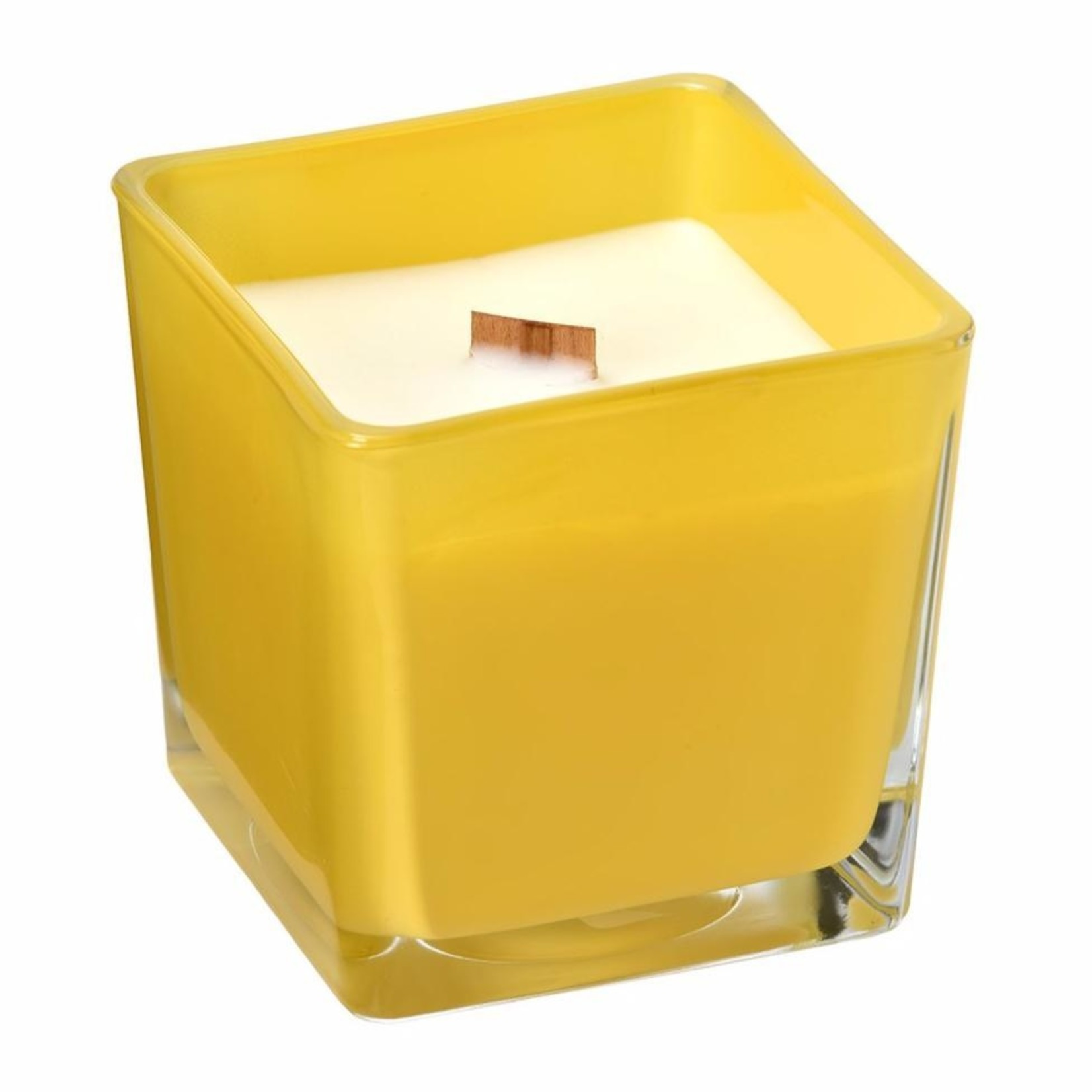 Buck Naked Soap Company Lemon and Lavender Coconut Wax Candle