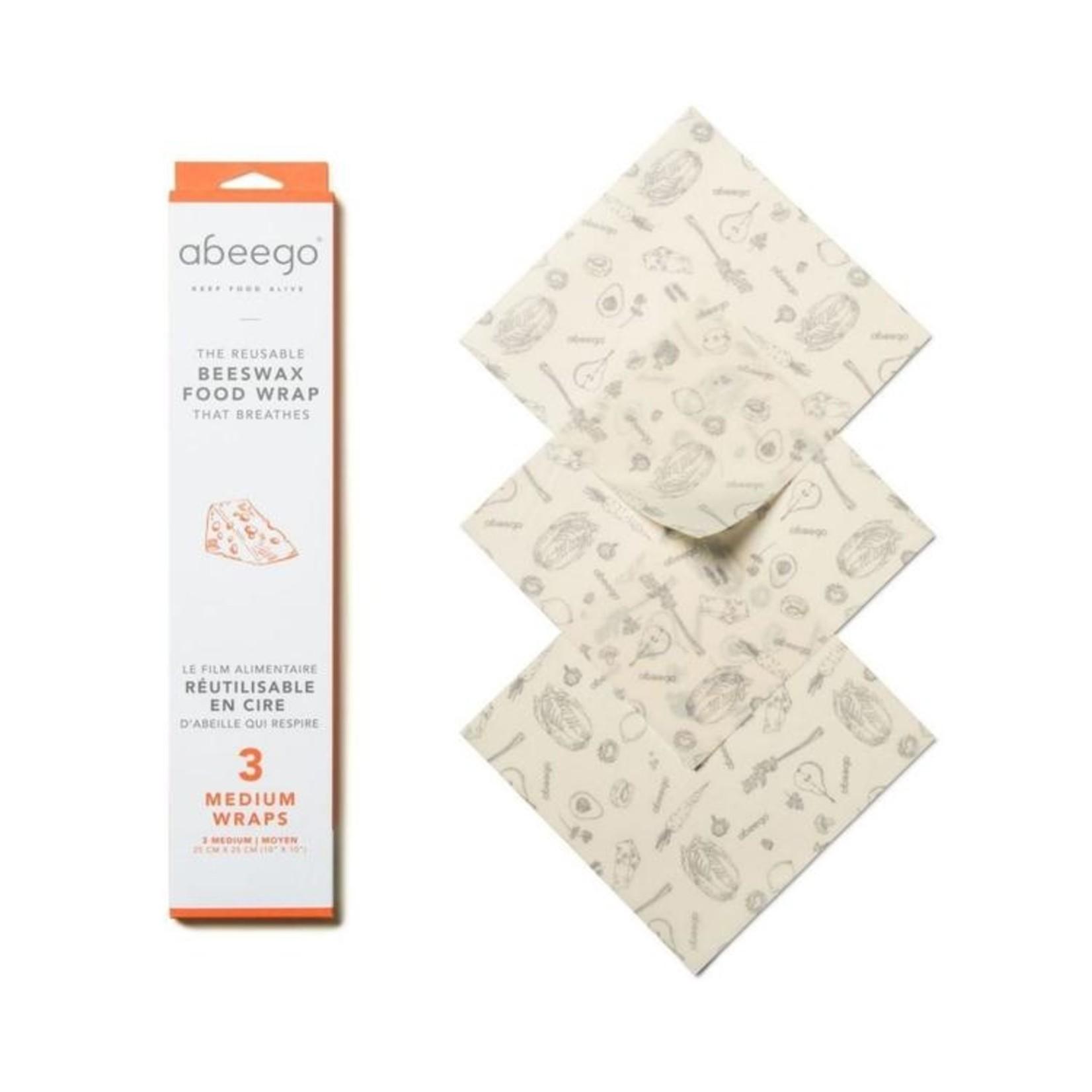 Abeego Reusable Beeswax Food Wrap