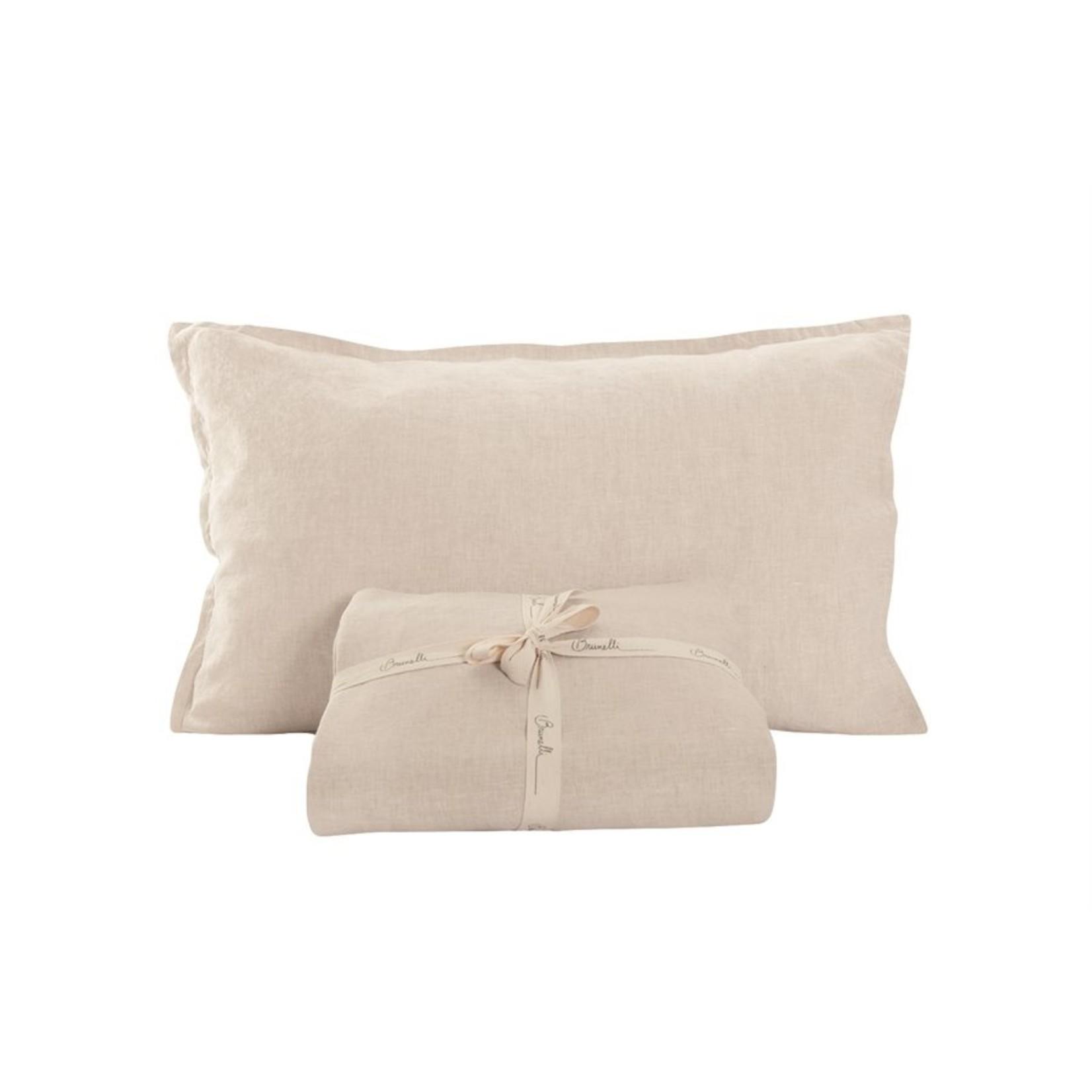 Brunelli Linen White Sheet Set