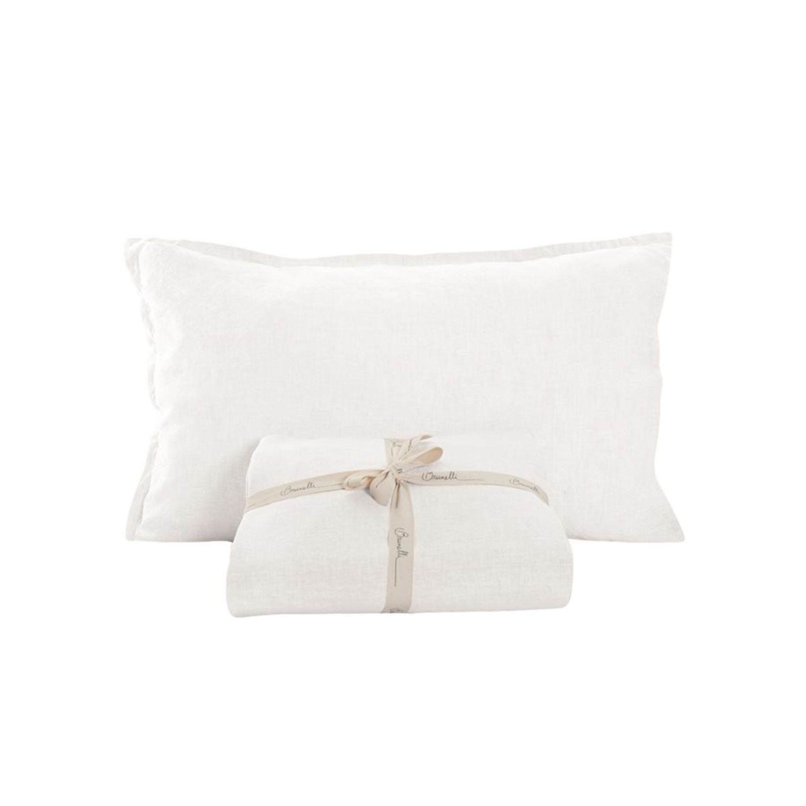Brunelli Linen White Pillow Sham