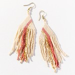 Ink + Alloy Terracotta Gold Ivory Diamond Luxe Stripe Earrings