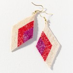 Ink + Alloy Scarlet Magenta Luxe Earrings