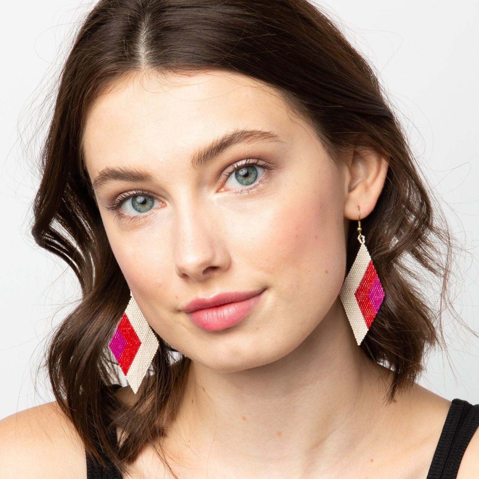Ink + Alloy Scarlet Magenta Luxe Earrings