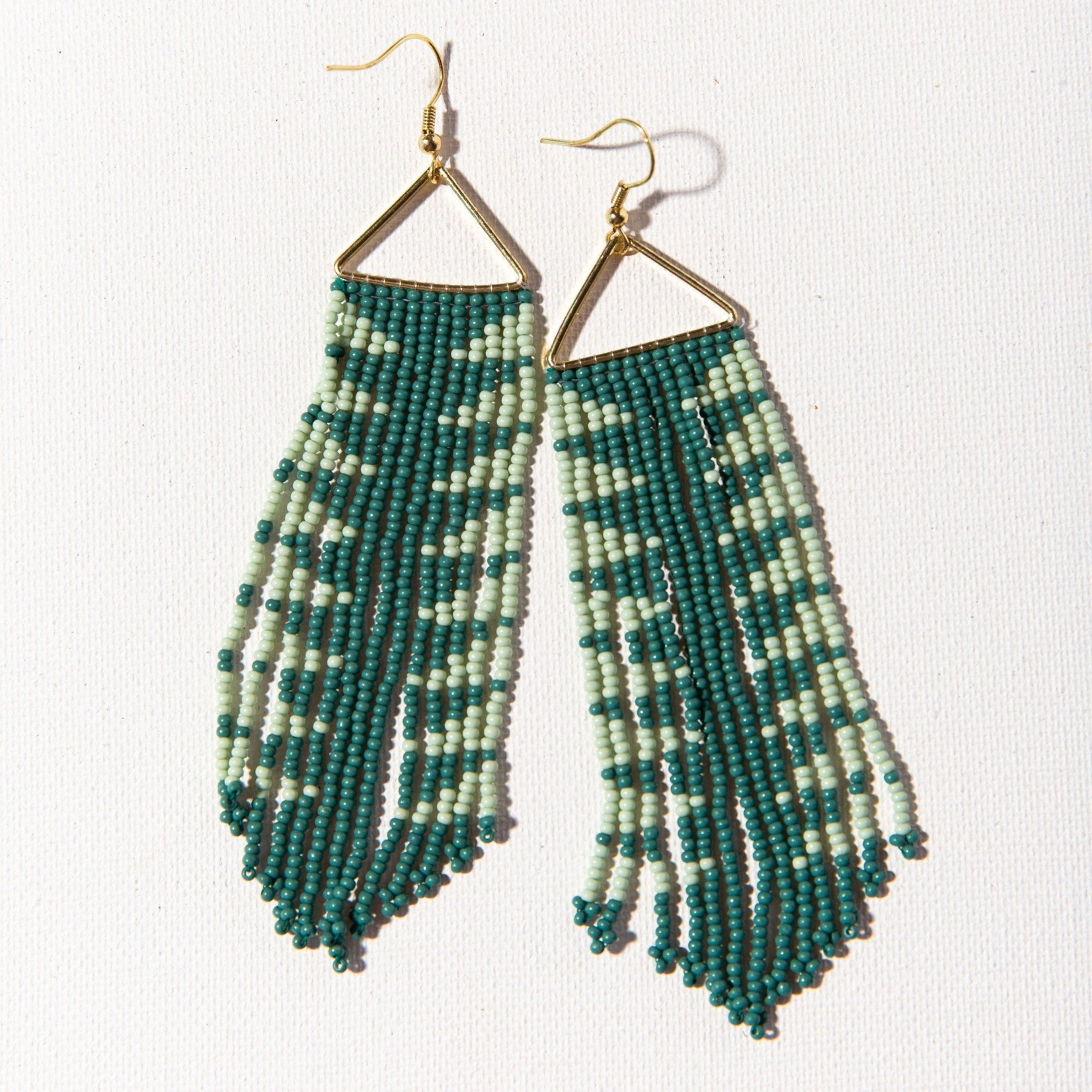 Ink + Alloy Arrow Triangle Fringe Earrings