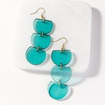 Ink + Alloy Lucite Trio Half Circle Dangle Earrings
