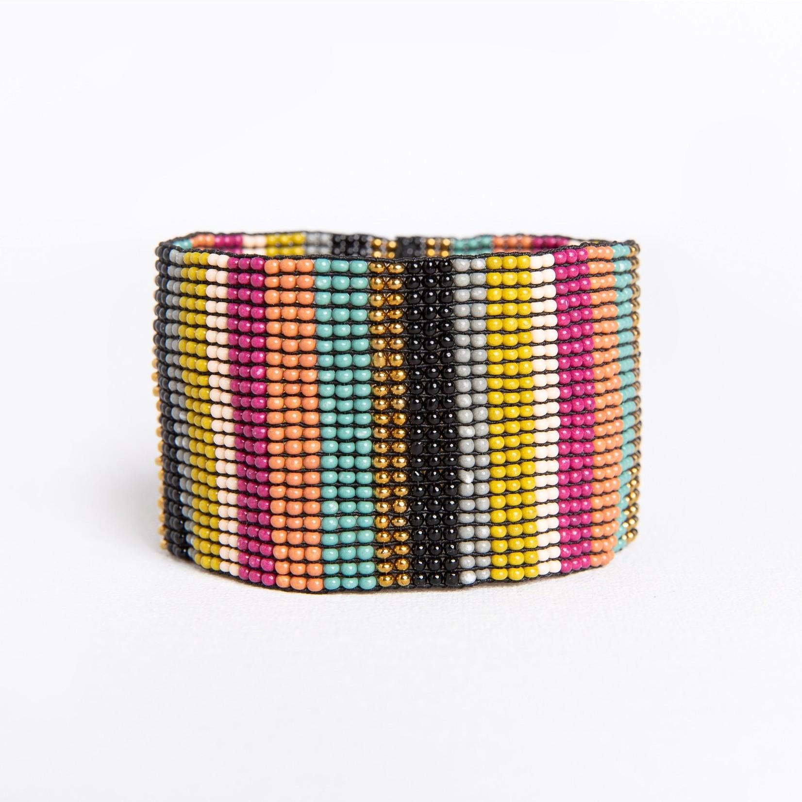 80/'s Metallic Color Splash Stretch Bracelet