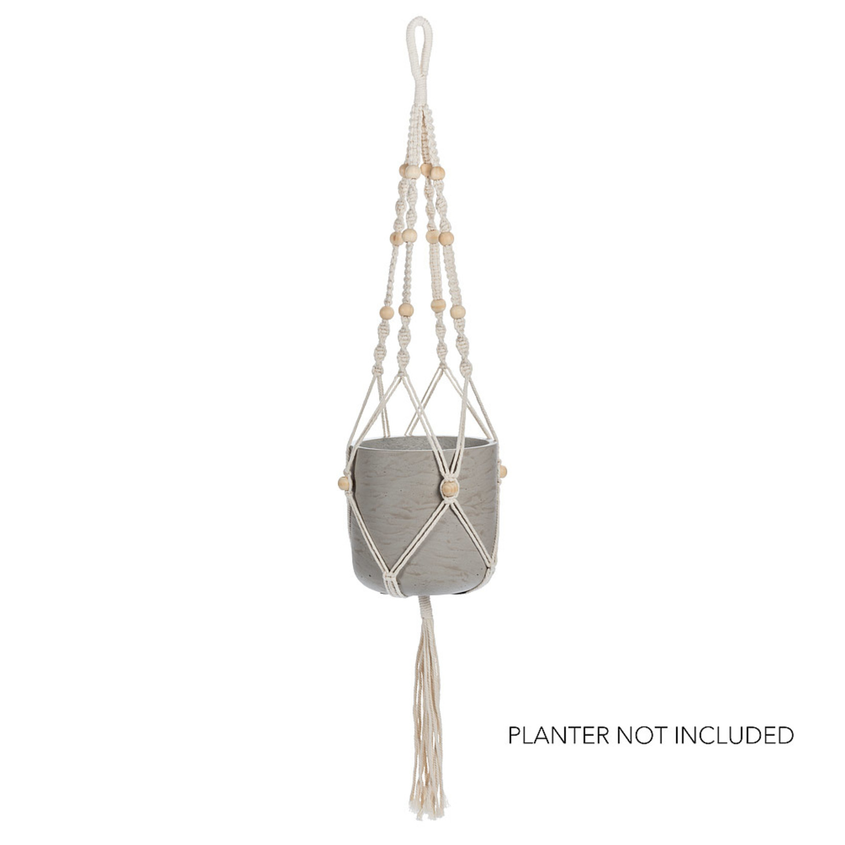 Abbott Planter Hanger with Tail & Beads