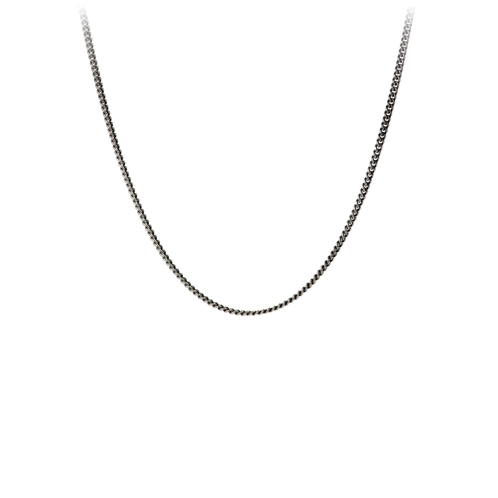 Pyrrha Oxidized Sterling Silver Fine Curb Chain