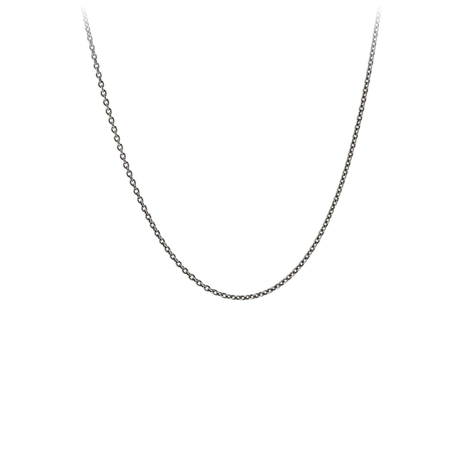 Pyrrha Oxidized Sterling Silver Fine Cable Chain