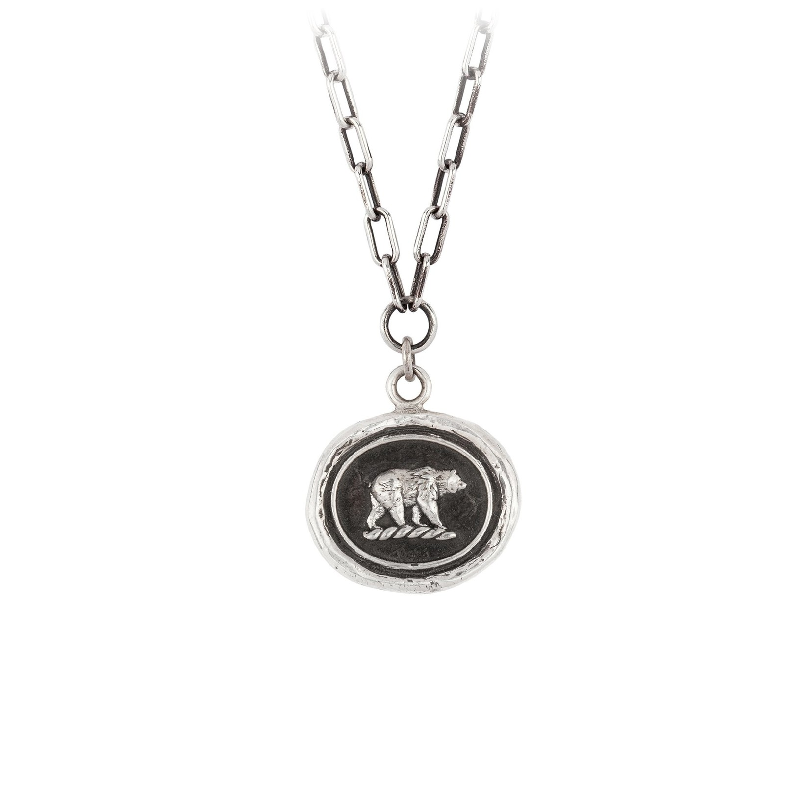 Pyrrha Mother Bear Small Paperclip Chain Necklace