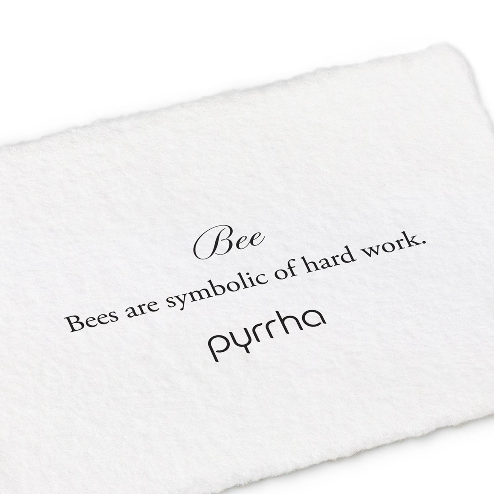 Pyrrha Bee 14K Gold Symbol Stud
