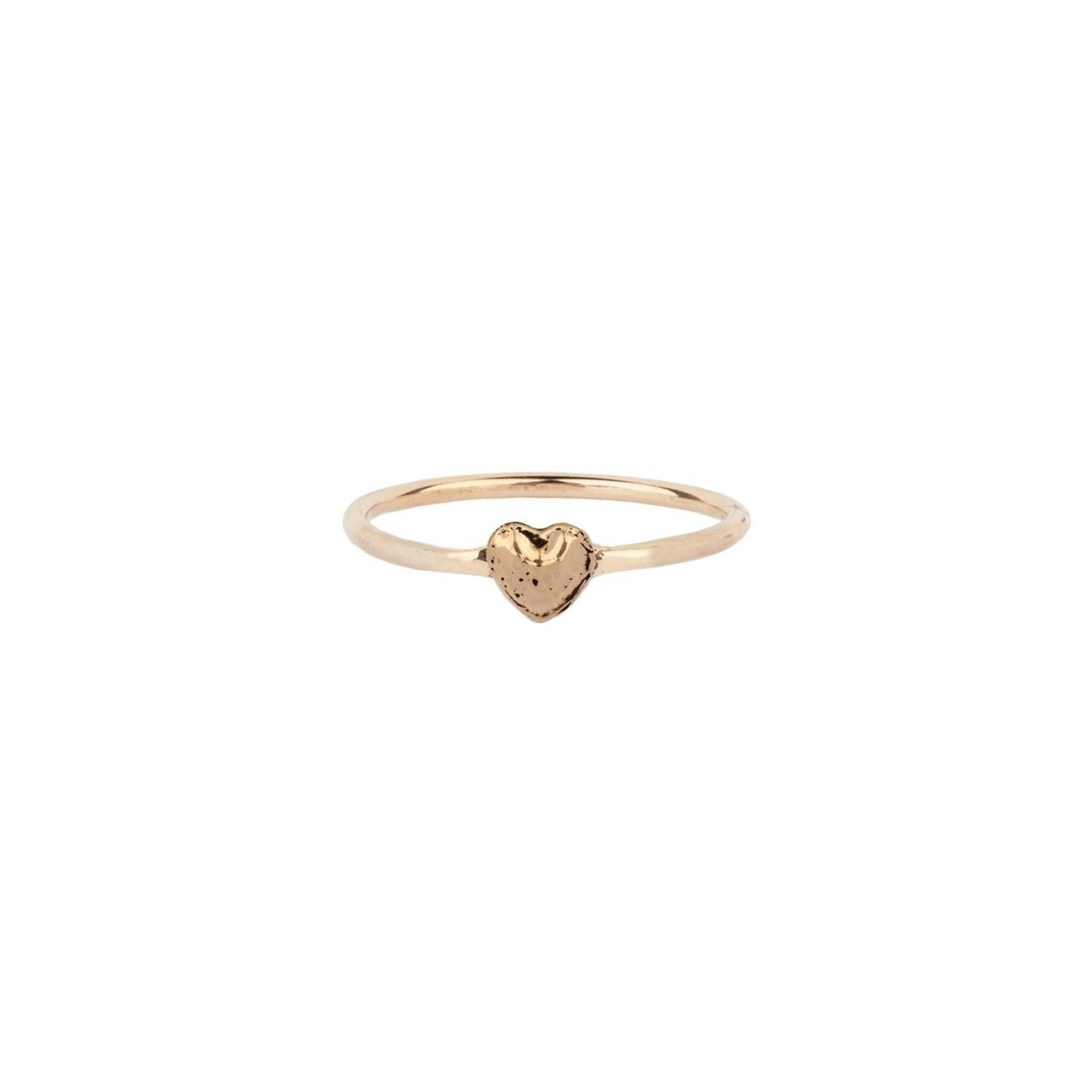 Pyrrha Heart 14K Gold Symbol Ring
