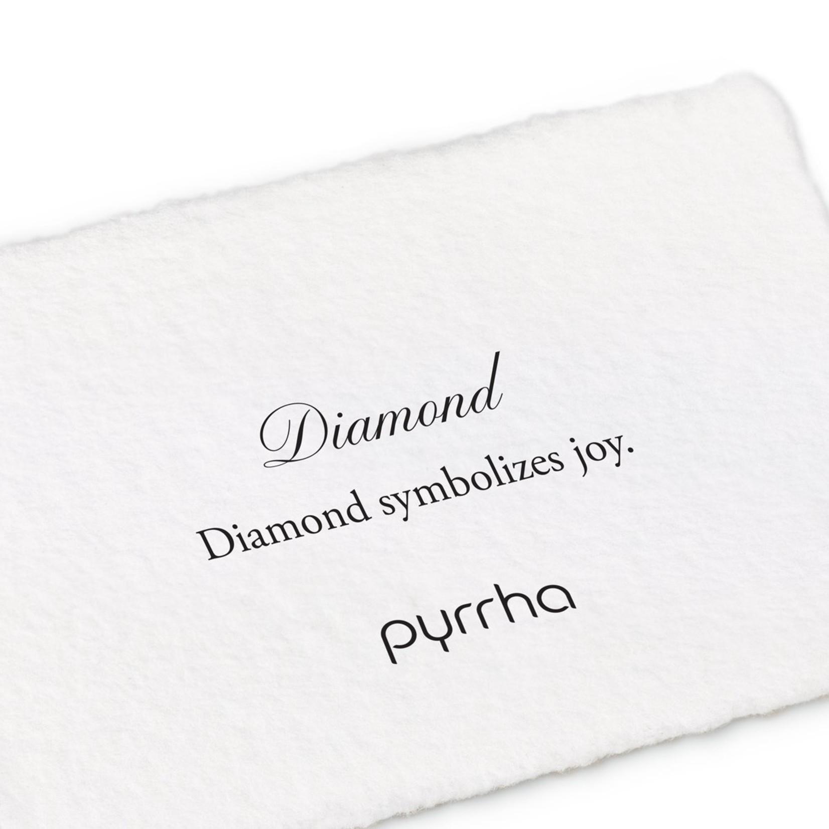 Pyrrha Tiny Diamond 14K Gold Lariat Necklace