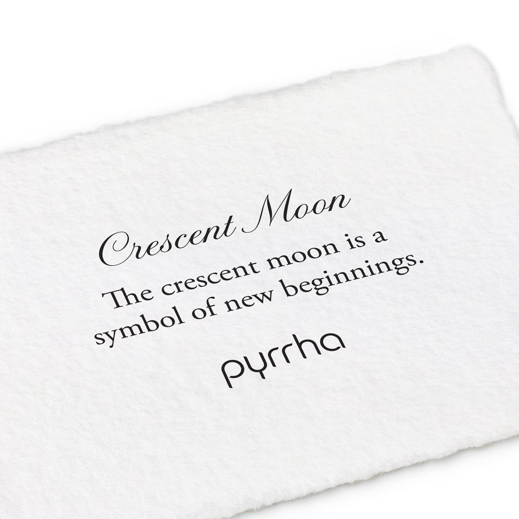 Pyrrha Crescent Moon 14K Gold Symbol Stud