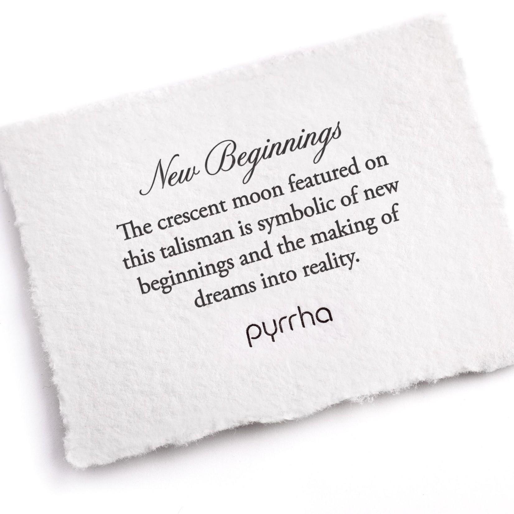 Pyrrha Crescent Moon Symbol Charm