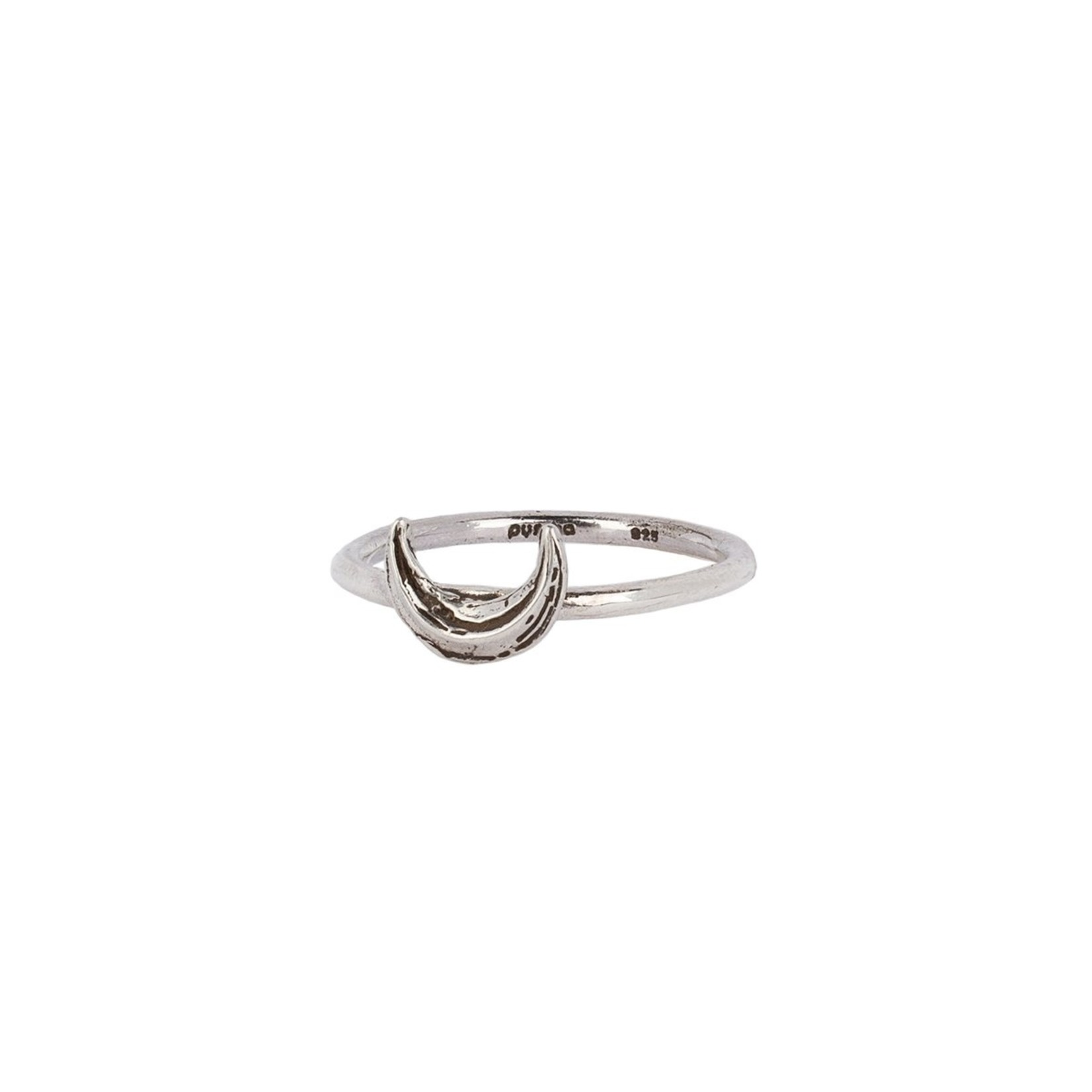 Pyrrha Crescent Moon Symbol Charm Ring