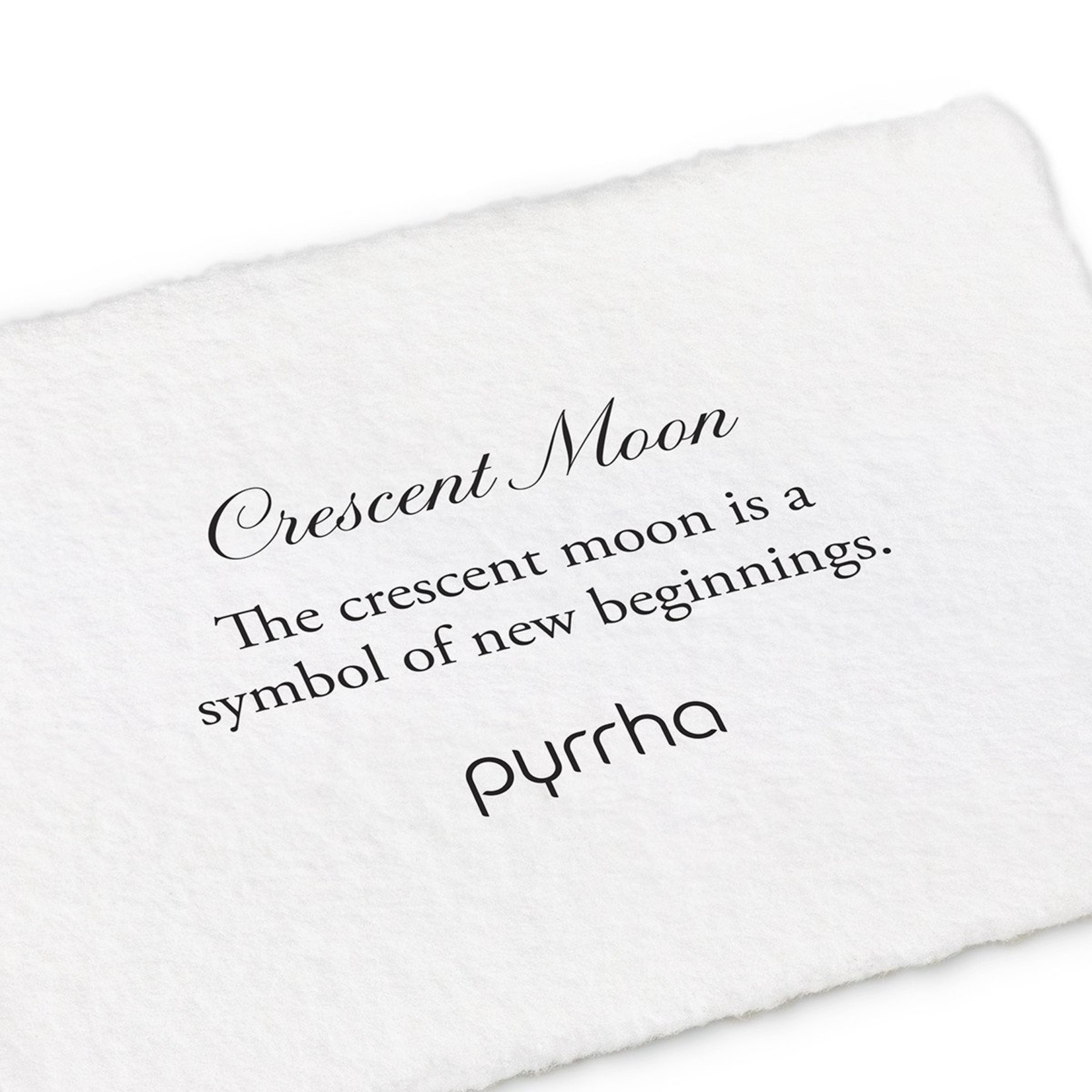 Pyrrha Crescent Moon Symbol Stud Earring