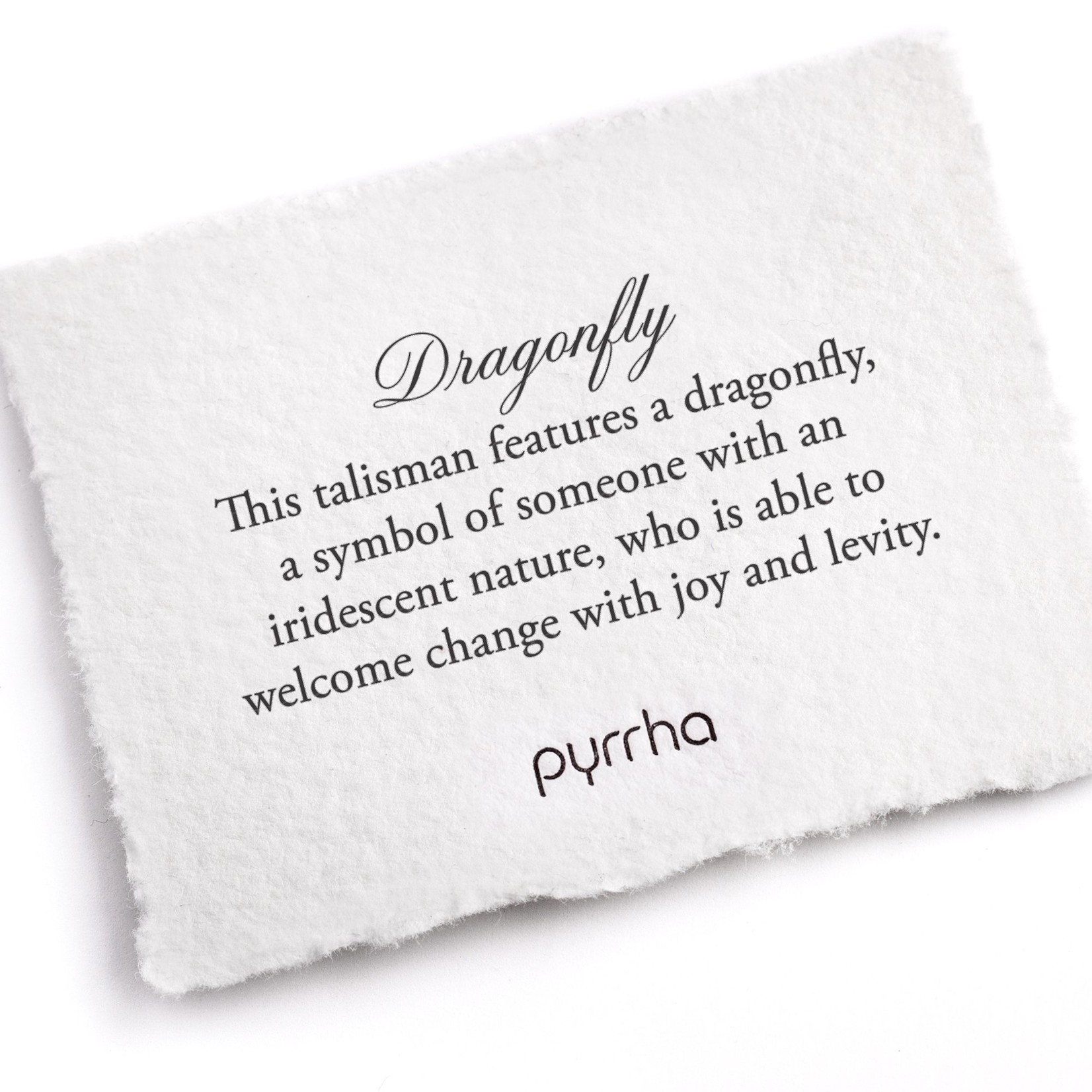 Pyrrha Dragonfly Small Paperclip Chain Necklace