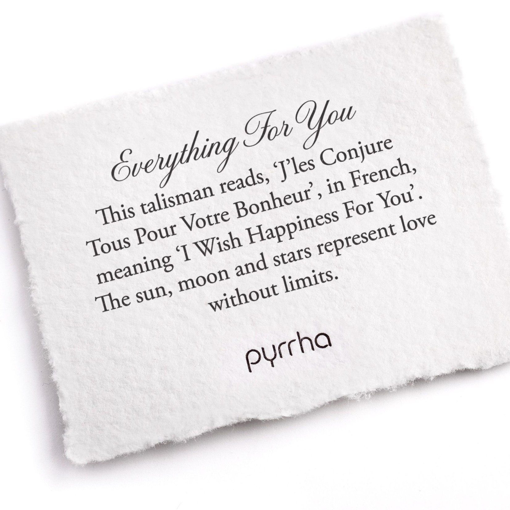 Pyrrha Everything for You Signature Talisman