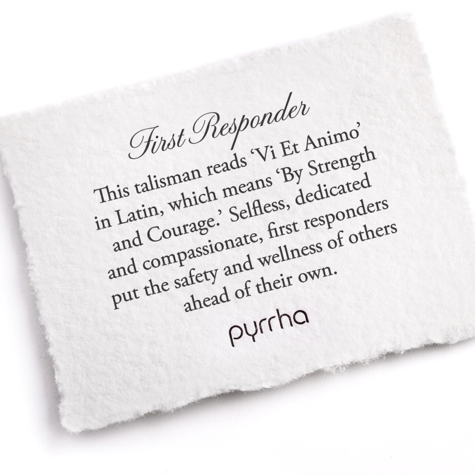 Pyrrha First Responder Signature Talisman