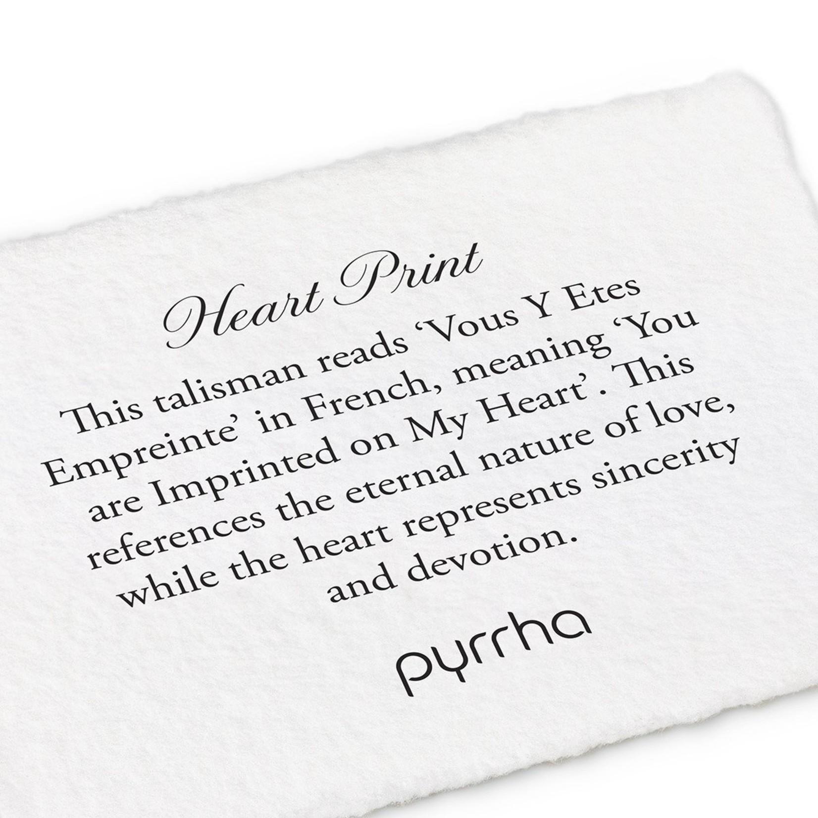 Pyrrha Heart Print Talisman Clasp Bracelet