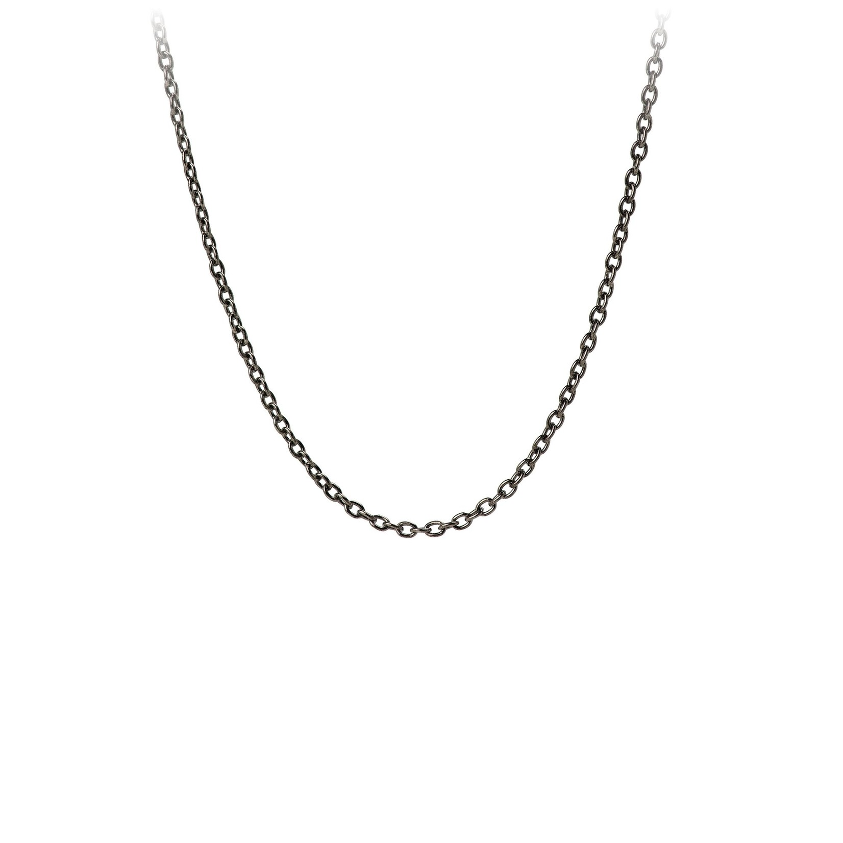 Pyrrha Black Sterling Silver Medium Cable Chain
