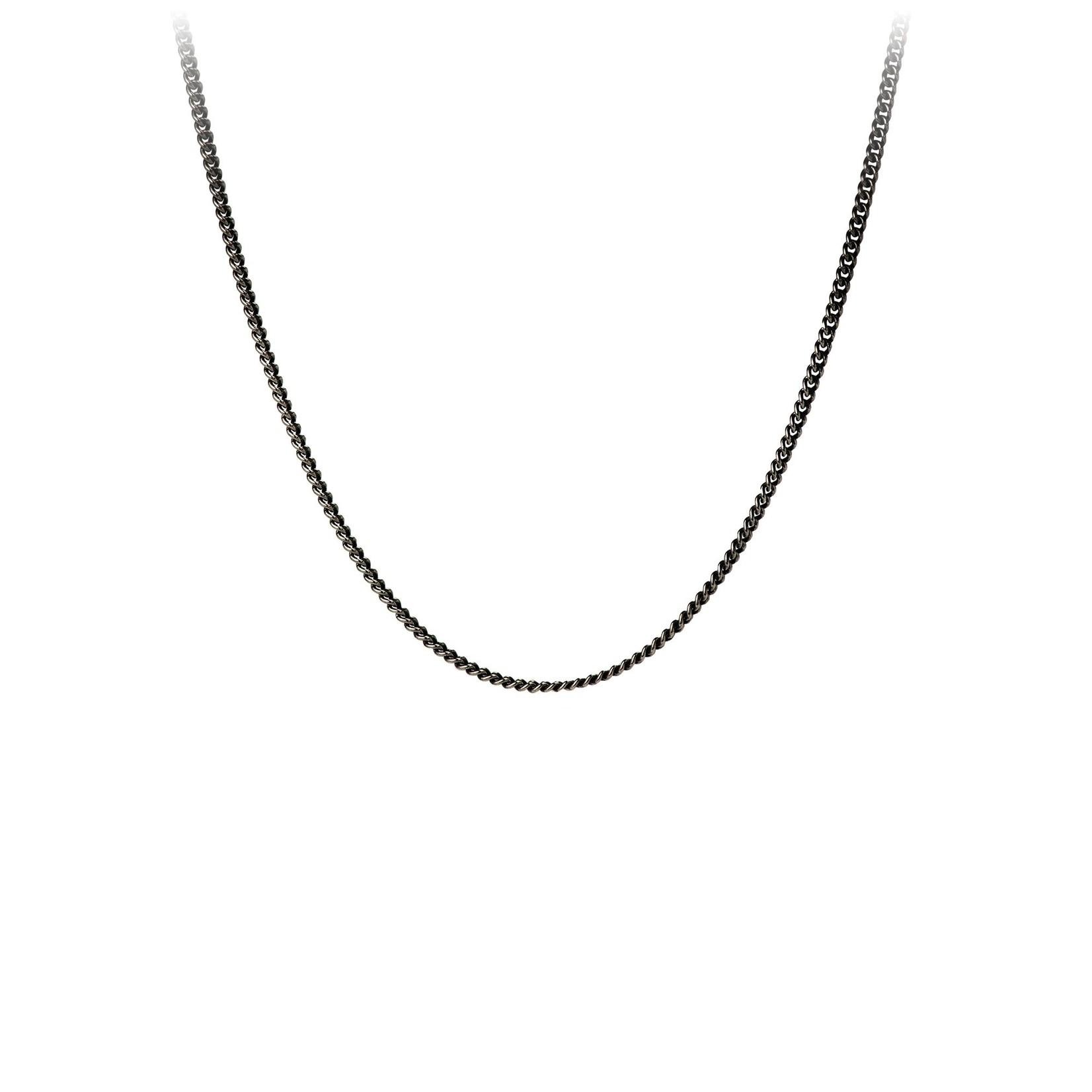 Pyrrha Black Sterling Silver Fine Curb Chain