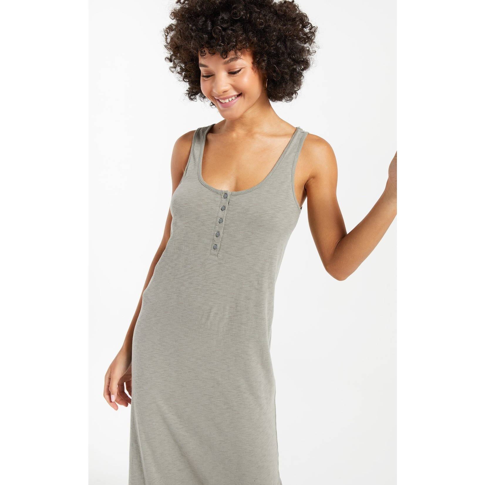 Z Supply Miley Slub Midi Dress
