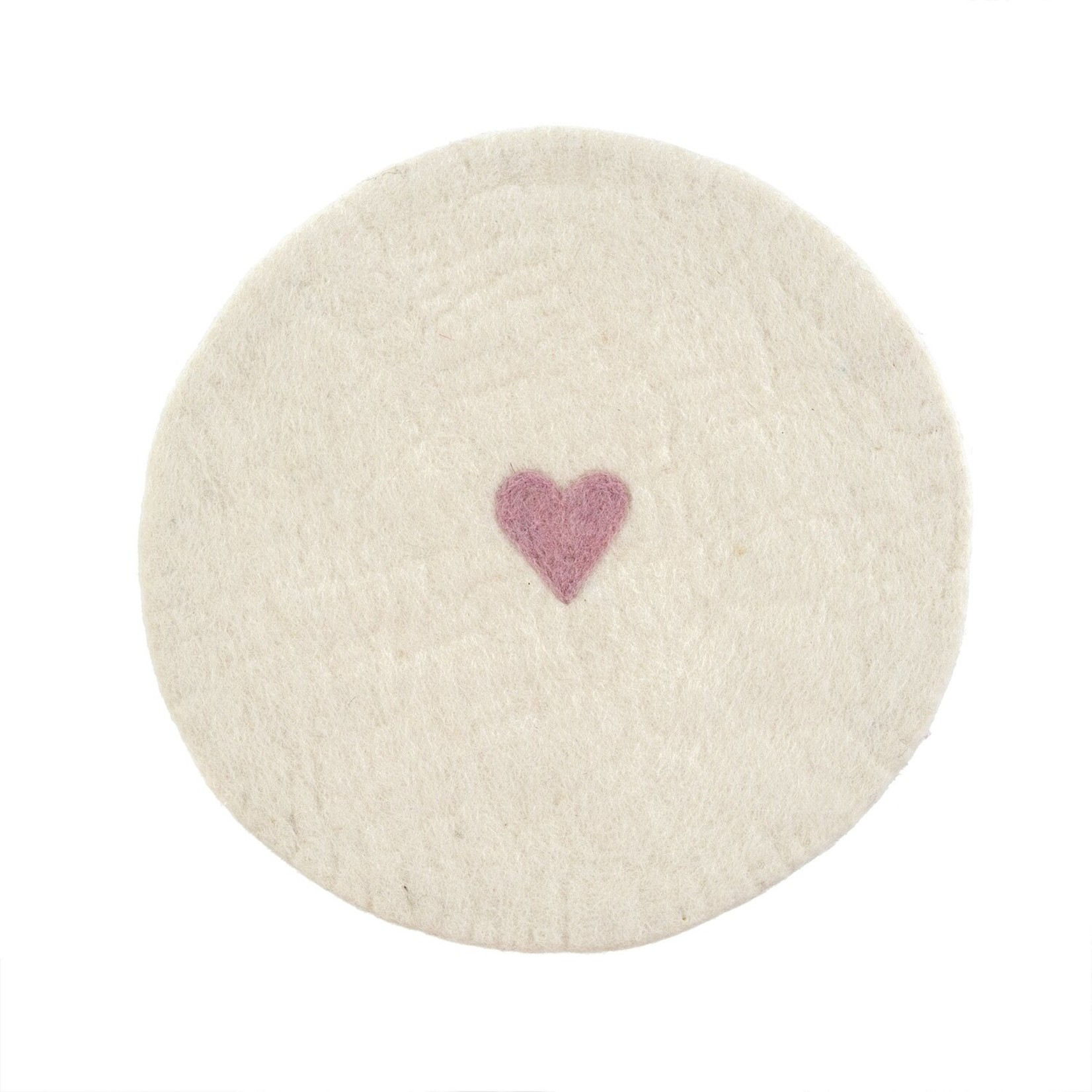 Indaba Felted Heart Placemat