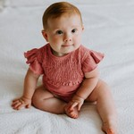 L'oved Baby Organic Smocked S/Sleeve Bodysuit