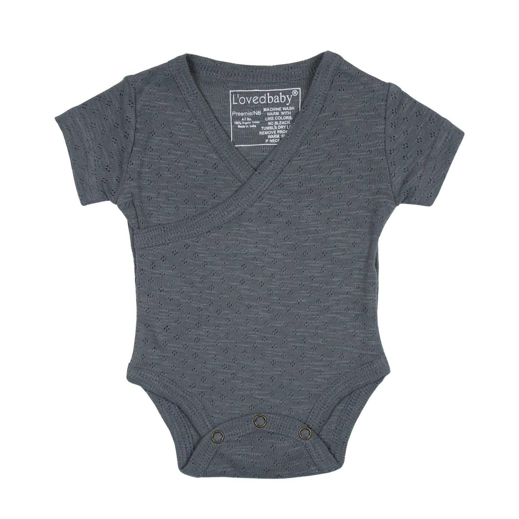 L'oved Baby Pointelle Sleeve Wrap Bodysuit