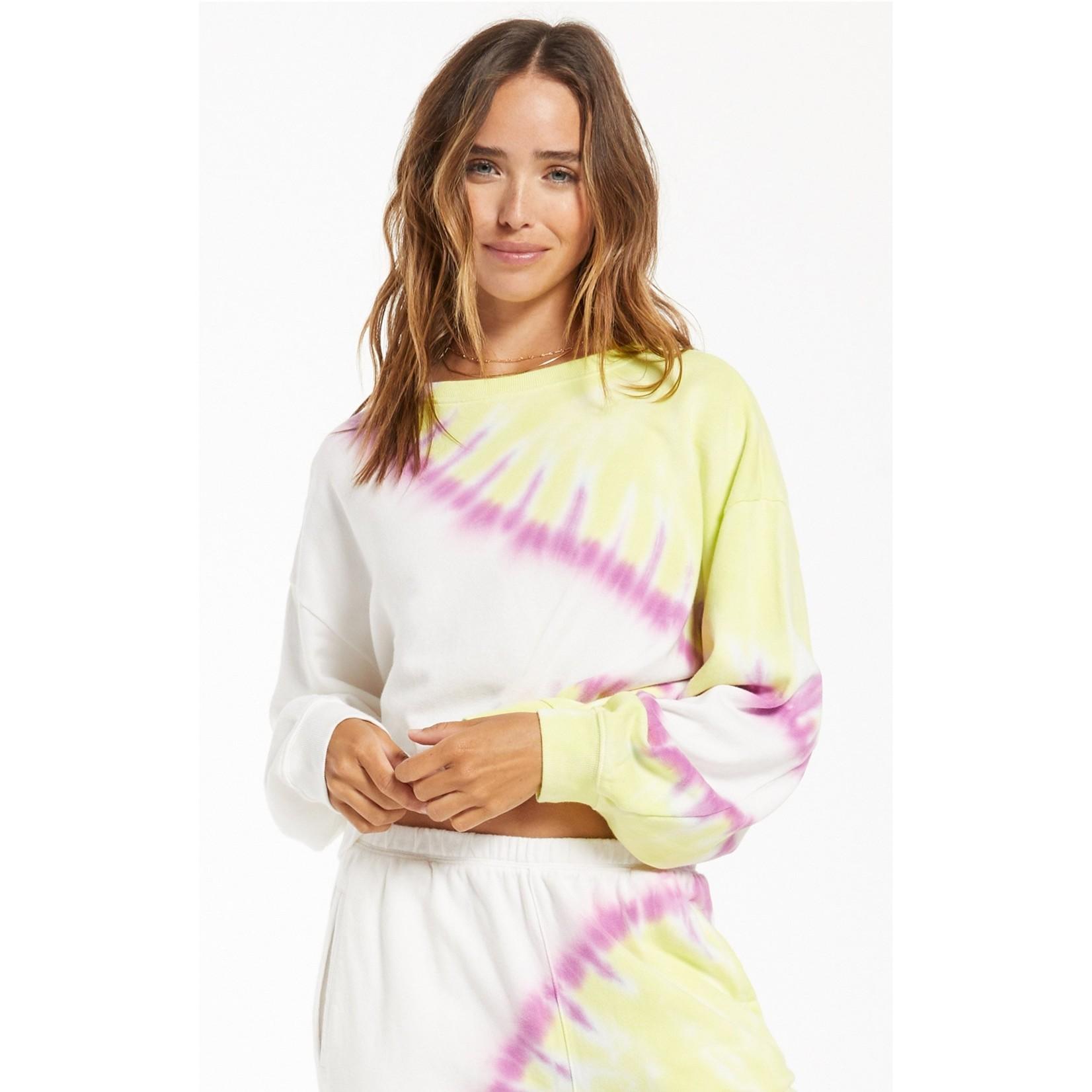 Z Supply Sunburst Tie-Dye Pullover