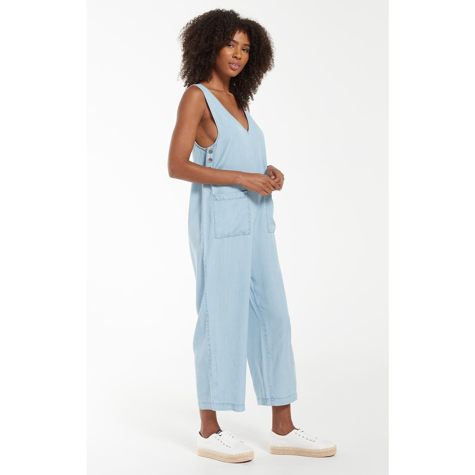 Z Supply Indigo Relaxed Jumpsuit