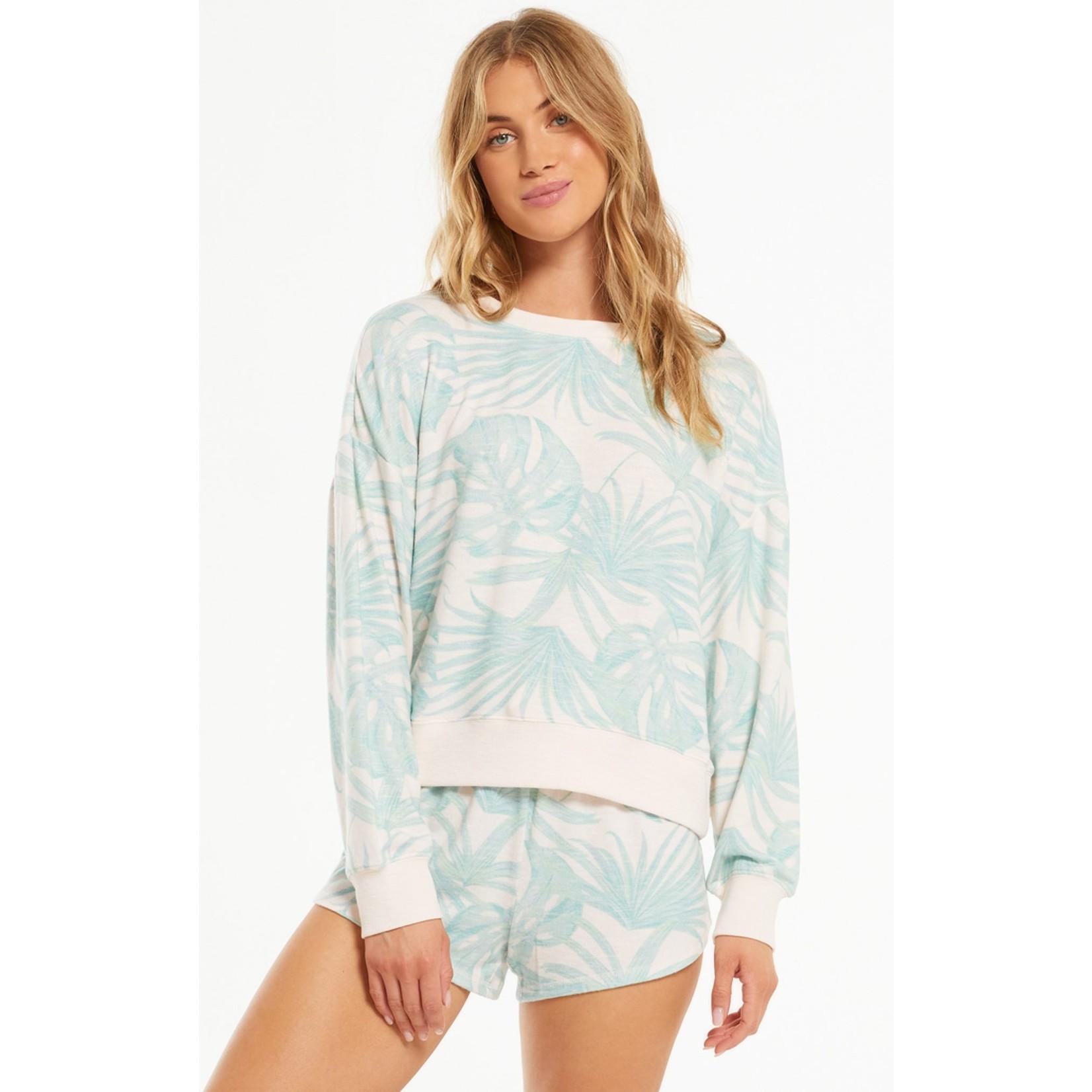 Z Supply Elle Palm  Pullover