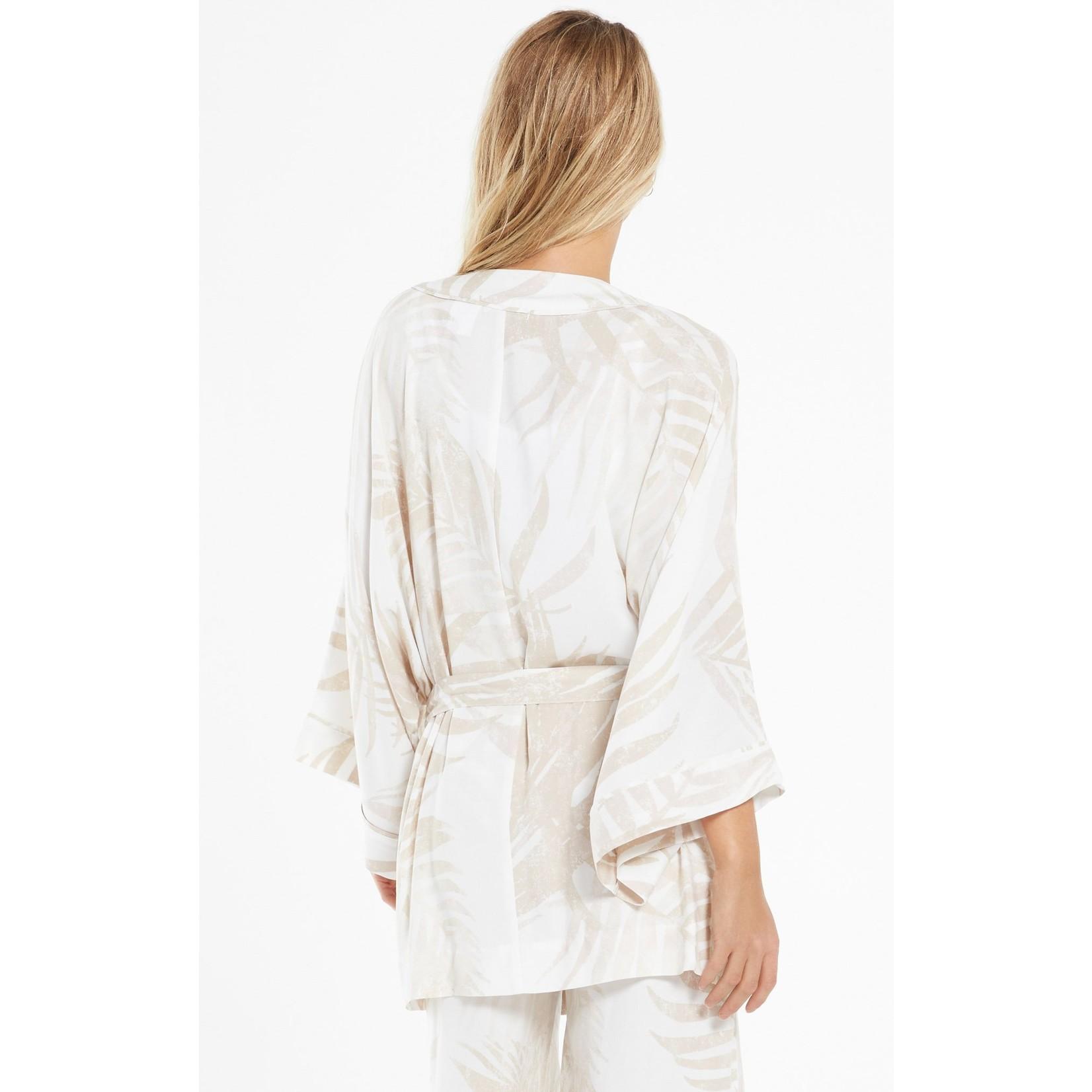 Z Supply Tropic Palm Wrap Kimono