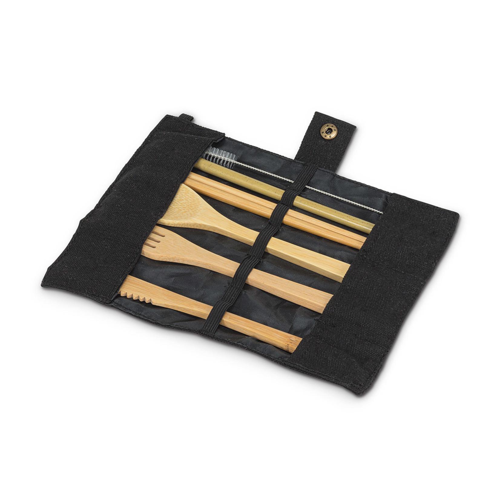 Abbott Bamboo 7-Piece Rollup Flatware Set