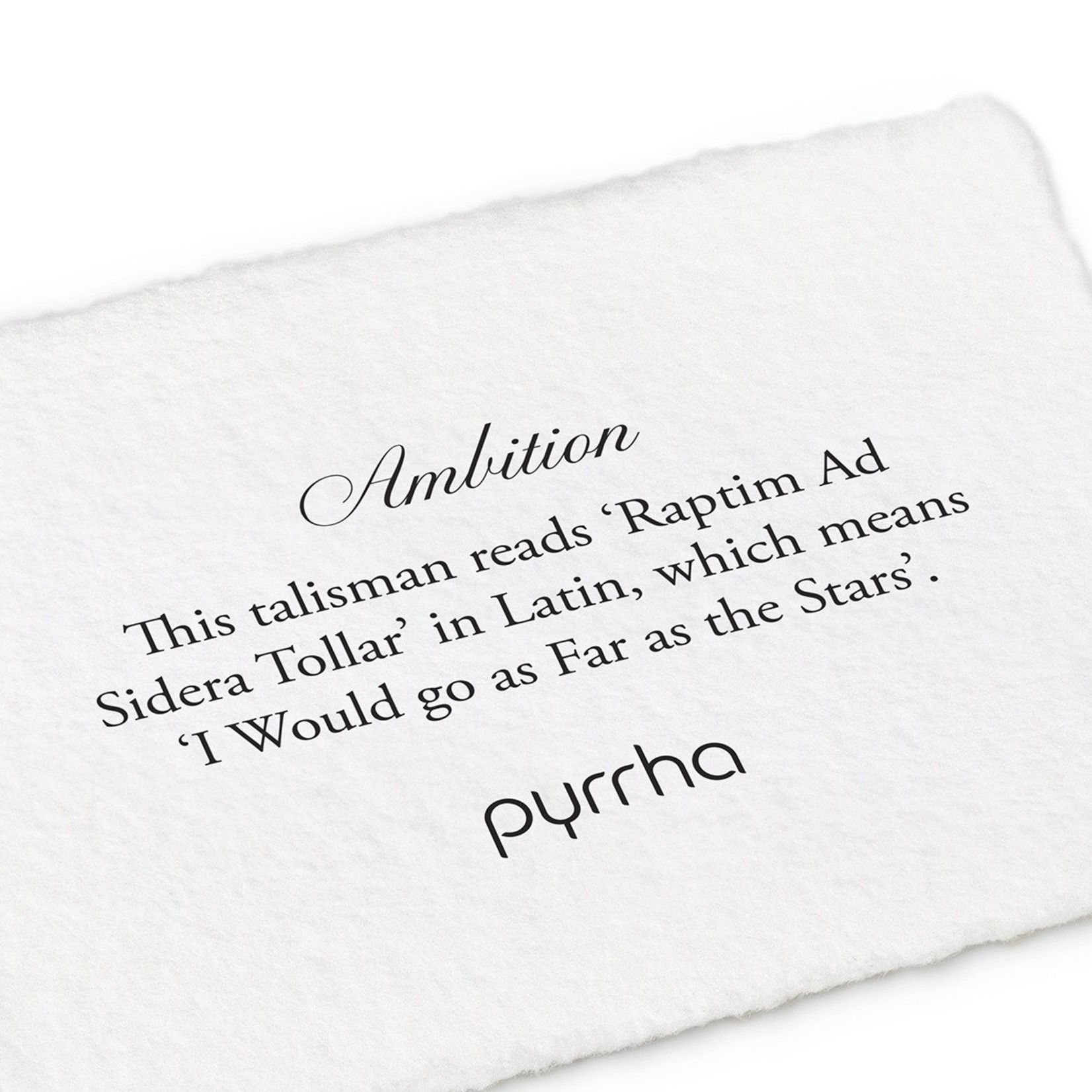 Pyrrha Ambition Signature Talisman
