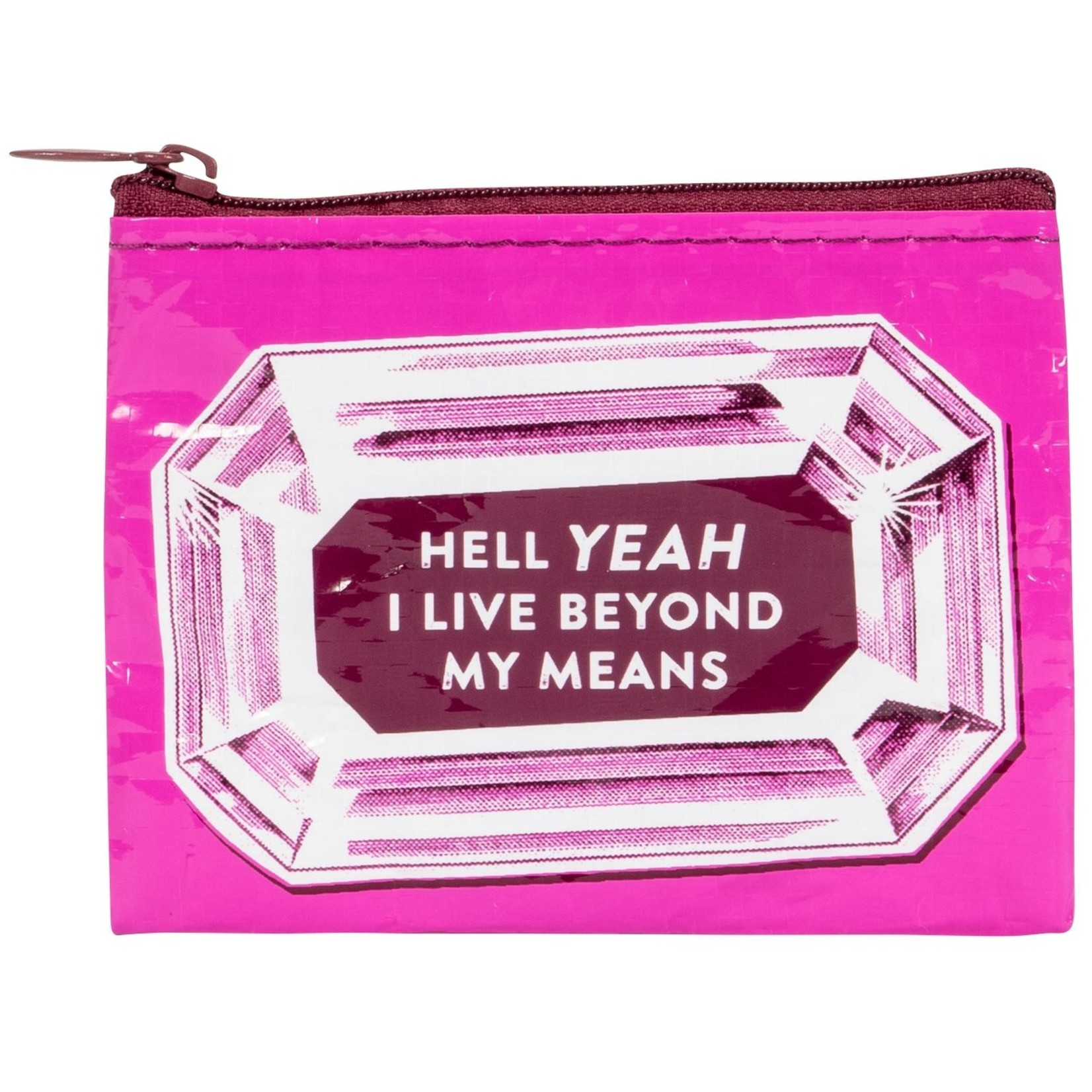 Blue Q I Live Beyond My Means Coin Purse