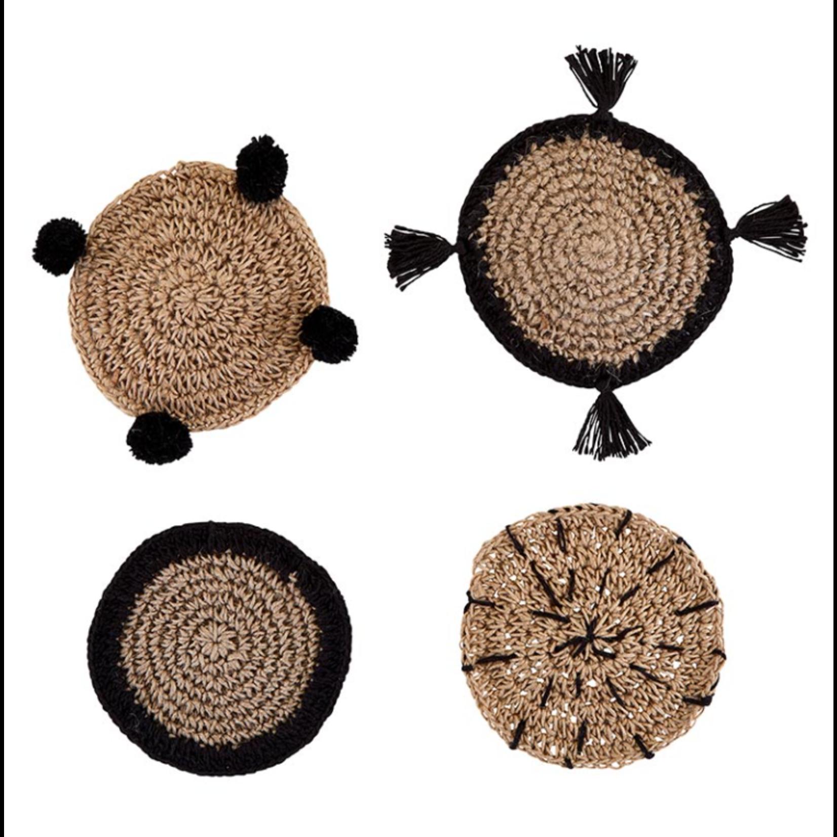 Santa Barbara Design Studio Seagrass Coasters in Burlap Bag