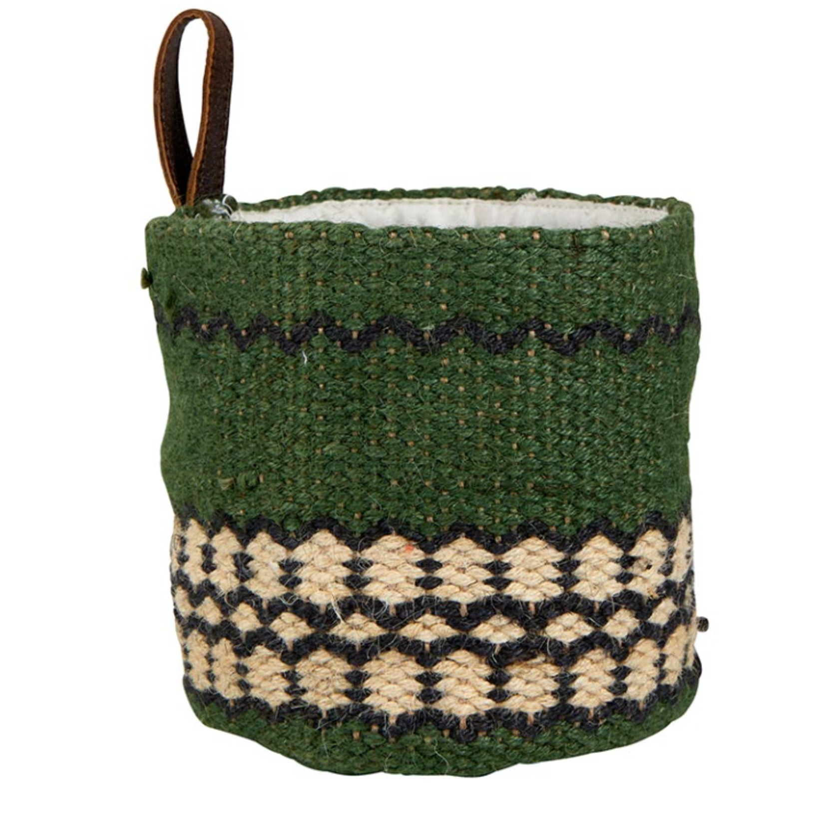 Santa Barbara Design Studio Forest Green Mini Jute Basket